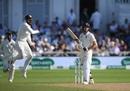 Virat Kohli jumps triumphantly as India dislodge Jos Buttler, England v India, 3rd Test, Trent Bridge, 4th day, August 21, 2018