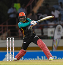 Devon Thomas bunts one away, St Lucia Stars v St Kitts & Nevis Patriots, CPL T20, Gros Islet, August 21, 2018