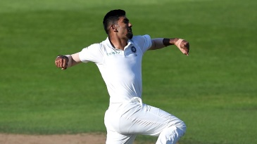 Jasprit Bumrah soars into the air