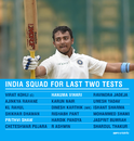 Prithvi Shaw and Hanuma Vihari will replace Murali Vijay and Kuldeep Yadav in the Test squad