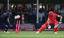 Sam Billings stumps Jos Buttler first ball, Kent v Lancashire, Vitality Blast quarter-finals, Canterbury, August 23, 2018
