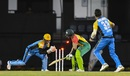 Shoaib Malik is stumped by Andre Fletcher off a full, wide one, St Lucia Stars v Guyana Amazon Warriors, CPL 2018, Gros Islet, August 24, 2018