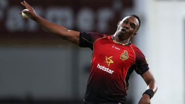 Dwayne Bravo takes flight
