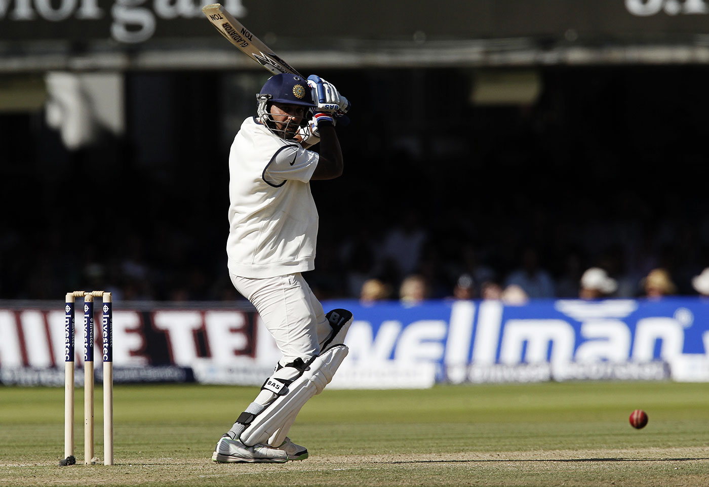 Four years ago: at Lord's in 2014, Vijay made a watchful 95 in the only Test India won on that tour