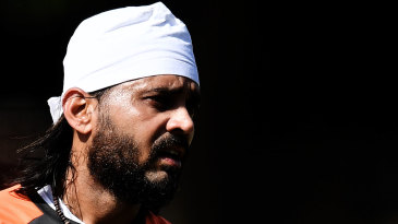 M Vijay during India's training session