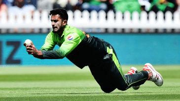 Hasan Ali takes a catch