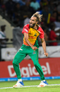 Imran Tahir celebrates a wicket, St Kitts and Nevis Patriots v Guyana Amazon Warriors, CPL 2018, Basseterre, August 28, 2018