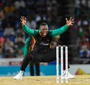 Sheldon Cottrell appeals for a wicket, St Kitts and Nevis Patriots v Guyana Amazon Warriors, CPL 2018, Basseterre, August 28, 2018