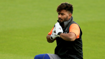 Rishabh Pant is a picture of concentration during training