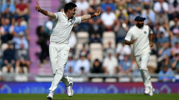 Jasprit Bumrah struck in his second over to dismiss Keaton Jennings