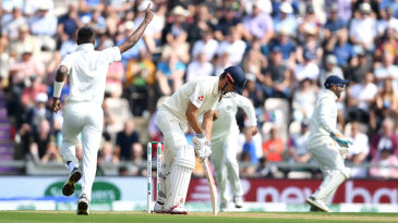 Alastair Cook fell playing a loose cut after 90 minutes of resistance