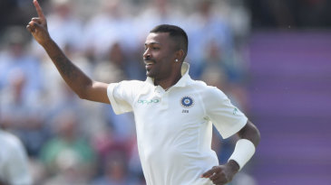 Hardik Pandya sprints off in celebration