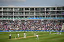Fans view the action from a nearby apartment building, England v India, 4th Test, Ageas Bowl, 1st day, August 30, 2018