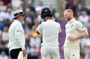 Ben Stokes checks on Cheteshwar Pujara after hitting him on the helmet with a short ball, England v India, 4th Test, Southampton, 2nd day, August 31, 2018