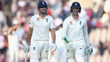 Alastair Cook and Keaton Jennings finished the second day with England wicketless