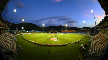 A general view over the Darren Sammy Stadium