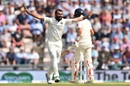 Mohammed Shami goes up in appeal, England v India,  4th Test, Ageas Bowl, 3rd day, September 1, 2018