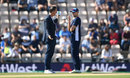Michael Vaughan chats to Joe Root before play, England v India, 4th Test, Southampton, 4th day, September 2, 2018