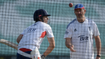 Alastair Cook and Graham Gooch in the nets