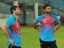 Neil McKenzie and Mashrafe Mortaza have a chat during training, Asia Cup 2018, Dhaka, September 3, 2018