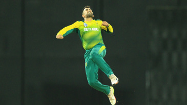 Tabraiz Shamsi leaps in celebration