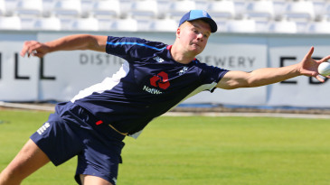 Ben Charlesworth in an England U19 practice session