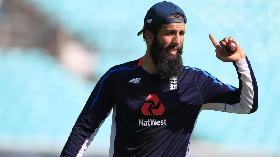 Moeen Ali at the nets