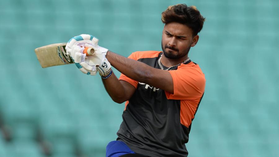 Rishabh Pant at a training session