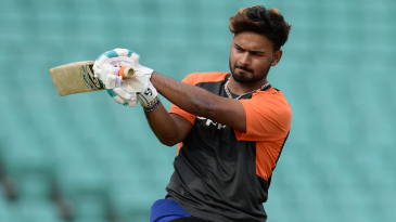 Rishabh Pant at a training session