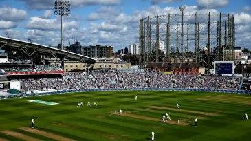 A sunny day of Test cricket The Oval