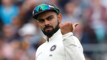 Virat Kohli in the field