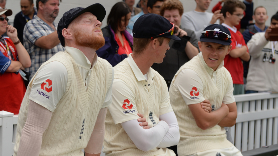 Ben Stokes, Keaton Jennings and Sam Curran