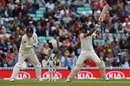 Cheteshwar Pujara slaps one through the off side, England v India, 5th Test, The Oval, 2nd day, September 8, 2018