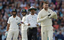 Kumar Dharmasena was not impressed by James Anderson's reaction, England v India, 5th Test, The Oval, 2nd day, September 8, 2018