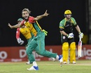 Imran Tahir appeals for a wicket, Guyana Amazon Warriors v Jamaica Tallawahs, CPL 2018, Providence Stadium, September 8, 2018