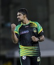 Ish Sodhi is pumped up after taking a wicket, Guyana Amazon Warriors v Jamaica Tallawahs, CPL 2018, Providence Stadium, September 8, 2018