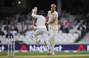 Stuart Broad and Ravindra Jadeja avoid a collision, England v India, 5th Test, The Oval, 3rd day, September 9, 2018