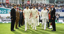 Alastair Cook, James Anderson and Jonny Bairstow walk on to the field, England v India, 5th Test, The Oval, 3rd day, September 9, 2018