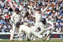 Keaton Jennings puts down Jasprit Bumrah at silly point, England v India, 5th Test, The Oval, 3rd day, September 9, 2018