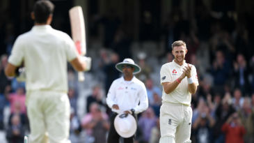 Joe Root doffs his hat to his former captain Alastair Cook