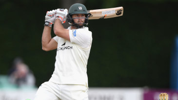 Ross Whiteley cuts during his half-century