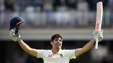 The magic moment: Alastair Cook reaches his century