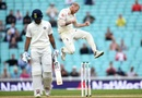 Ben Stokes jumps in joy after dismissing Hanuma Vihari, England v India, 5th Test, The Oval, 5th day, September 11, 2018
