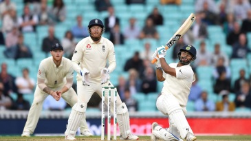 Rishabh Pant brings up his maiden Test hundred with a six