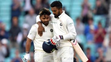 KL Rahul congratulates Rishabh Pant on his maiden Test hundred