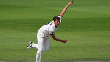 Ben Coad in action against Lancashire