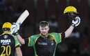 Glenn Phillips celebrates a hundred, Jamaica Tallawahs v St Kitts and Nevis Patriots, CPL 2018, Providence, September 12, 2018