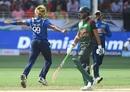 Lasith Malinga celebrates Shakib Al Hasan's dismissal, Sri Lanka v Bangladesh, Asia Cup 2018, Dubai, September 15, 2018