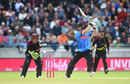 Luke Wright goes through the off side, Sussex v Somerset, T20 Blast, Semi-final, Edgbaston, September 15, 2018