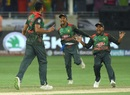 Mashrafe Mortaza celebrates a dismissal with Mehidy Hasan Miraz, Sri Lanka v Bangladesh, Asia Cup 2018, Dubai, September 15, 2018